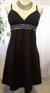 Forever 21 black bling crystals mini dress size M
